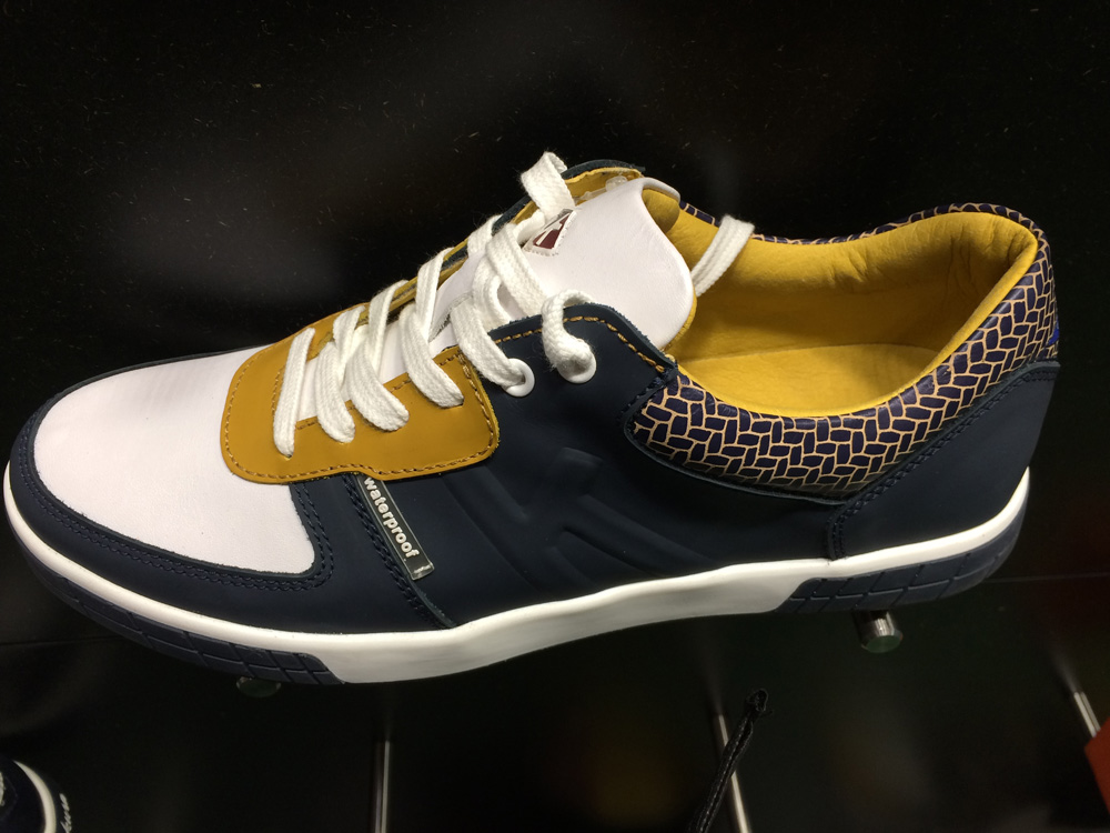 The latest offering from the Portuguese golf shoe company combines comfort and style and can be worn on and off the golf course. $250; kankuragolf.com