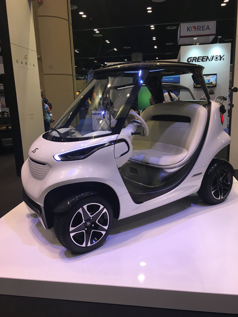 Garia's road-legal, lithium-powered Mercedes-Benz edition golf car can travel up to 35 mph in the U.S. and will be officially launched at the Geneva motor show later this year. Price TBD. garia.com