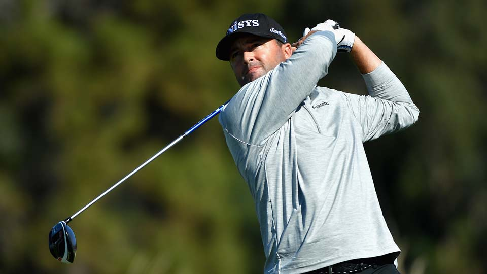 Ryan Palmer leads Jon Rahmby one shot heading into the weekend at Torrey Pines.