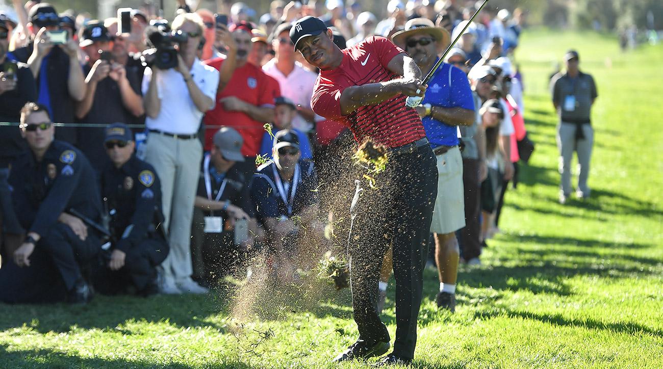 Tiger Woods hit only 17 fairways all week.