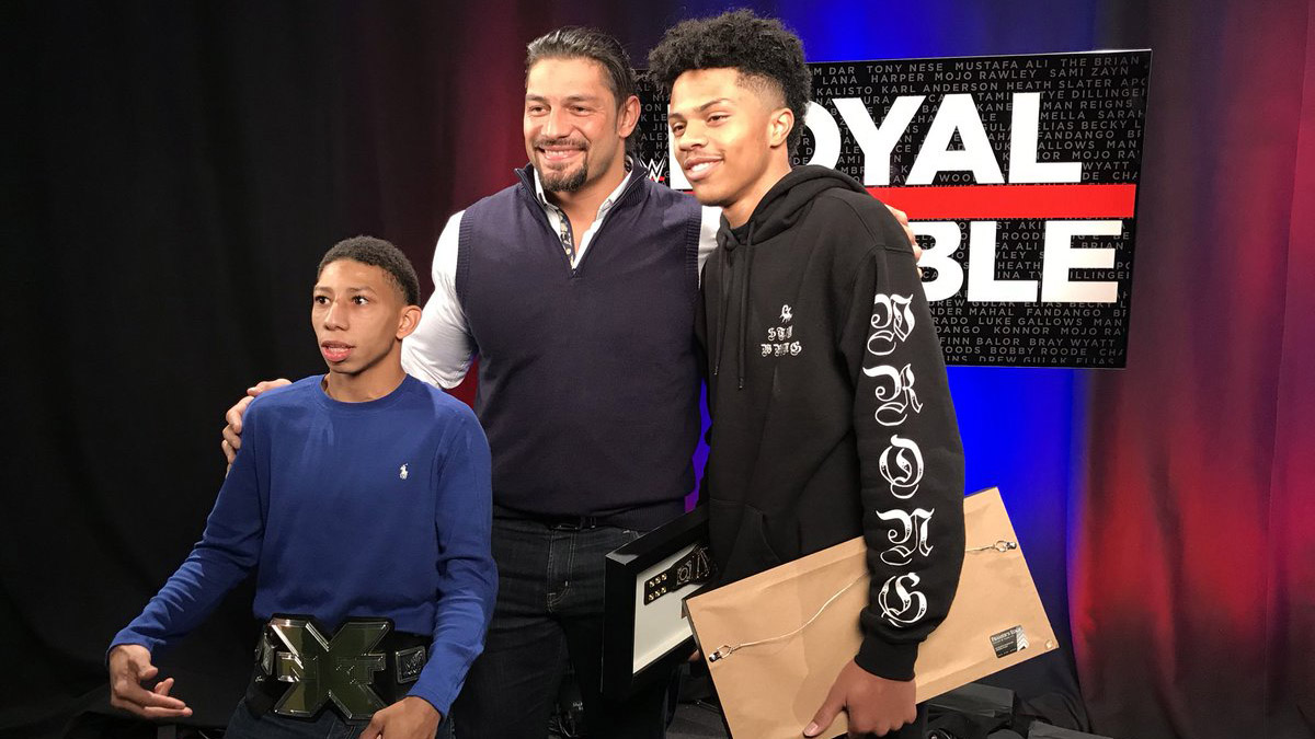 WWE: Shanquis and Charles Thompson meet superstars (video) | SI.com