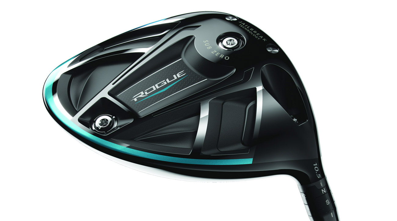Movable weights (2g and 14g) on the Callaway Rogue Sub Zero driver allow for customized CG locations and spin rates.