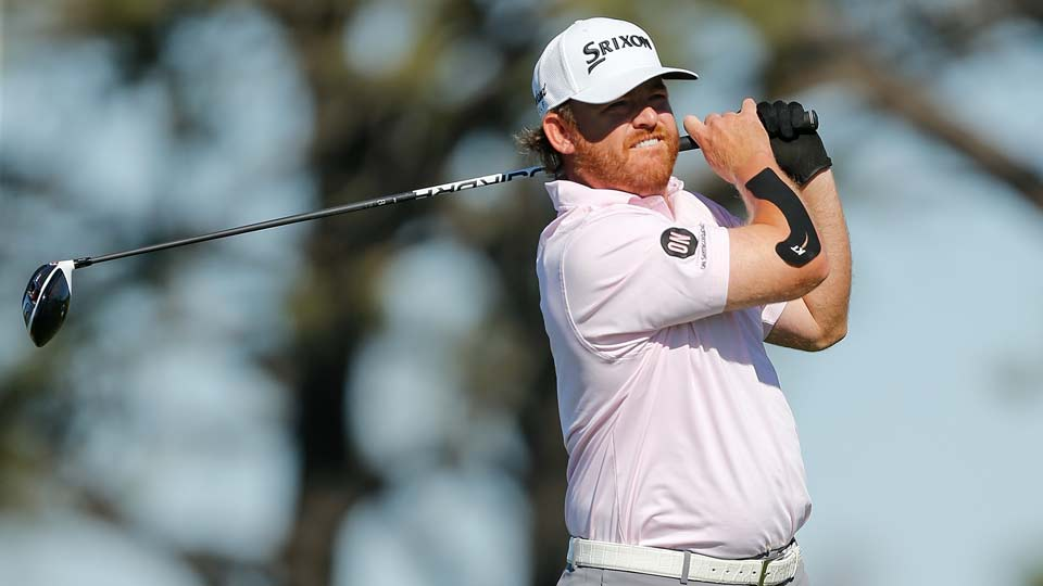 J.B. Holmes took over four minutes to hit his second shot on the 18th hole during Sunday's final round at Torrey Pines.