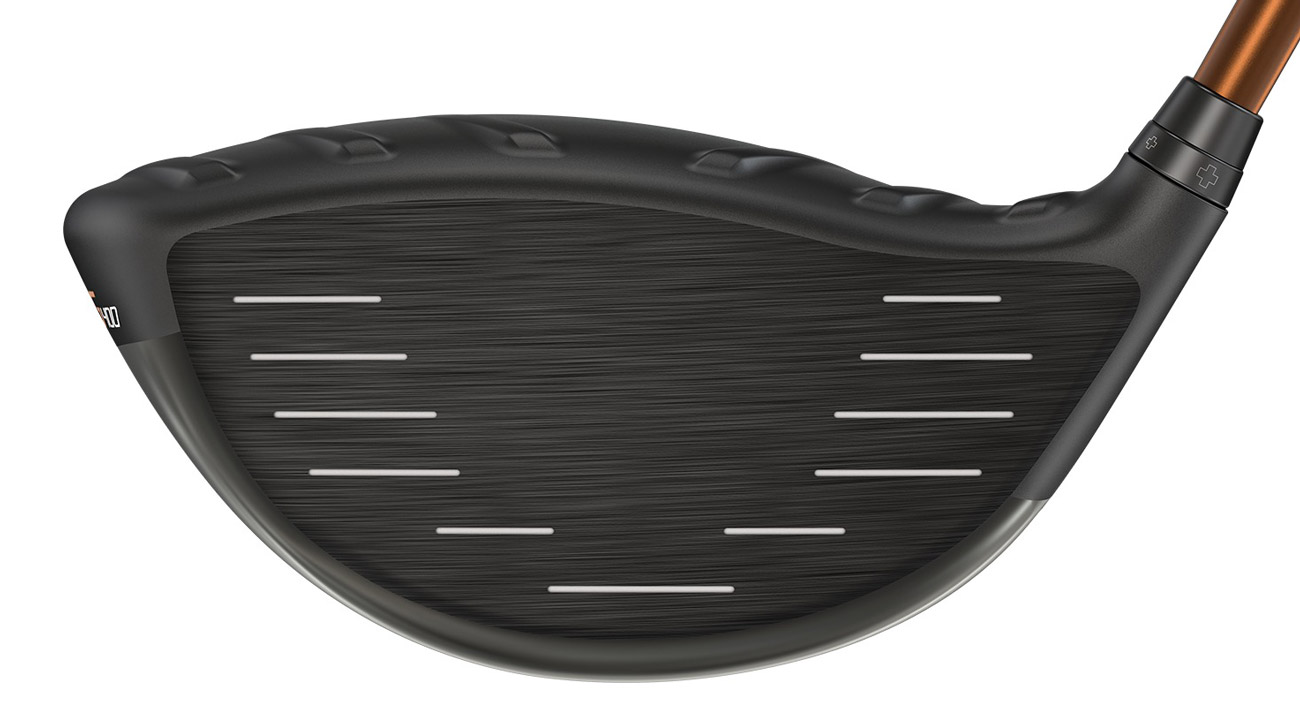 A look at the face of the Ping G400 driver.