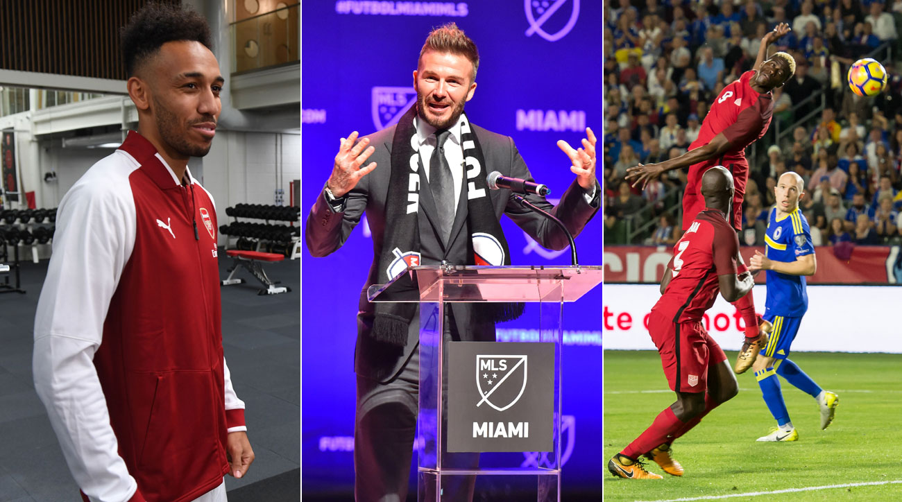 Pierre-Emerick Aubamyeang's transfer, David Beckham's MLS team and the USMNT are all part of the new Planet Futbol TV episode