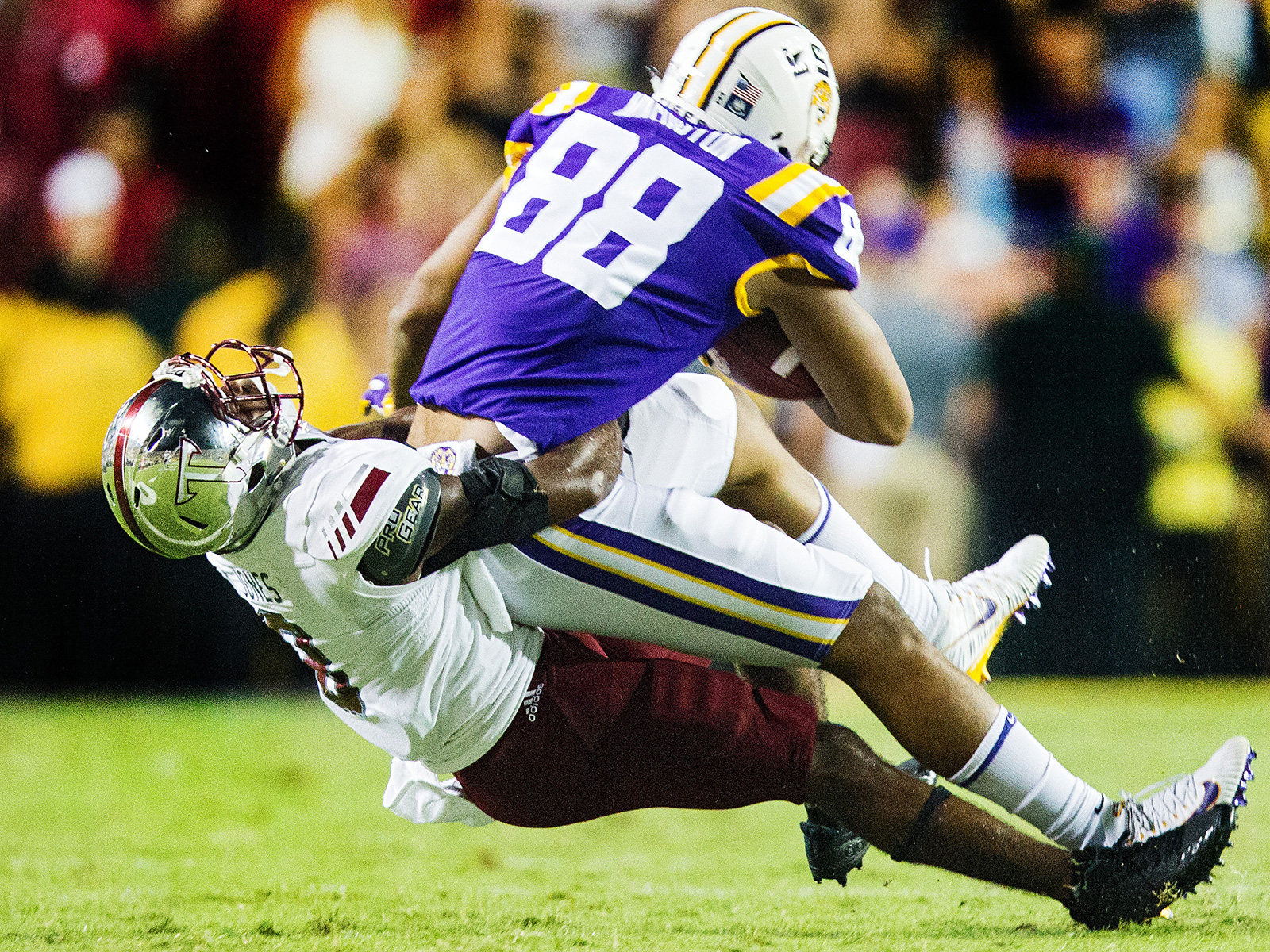 Amid growing tension between coach Ed Orgeron and offensive coordinator Matt Canada, LSU's offense looked lifeless, and its defense couldn't stop Trojans back Jordan Chunn, who lumbered for 191 yards and a touchdown. The Tigers played their way back from the brink of collapse in the ensuing weeks, while Troy went on to share the Sun Belt title with fellow revered giant-killer Appalachian State.