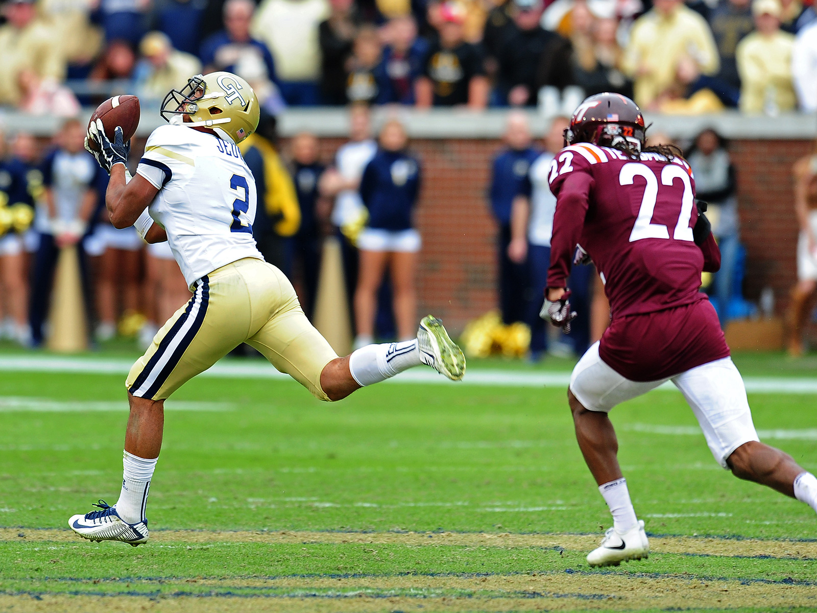The surprise here wasn't necessarily that the Yellow Jackets won but rather how they won: with an aerial assault. Taquon Marshall completed only two passes, but those two completions went for 60- and 80-yard touchdowns in the second half as Georgia Tech's triple-option-centric offense caught the Hokies off guard.