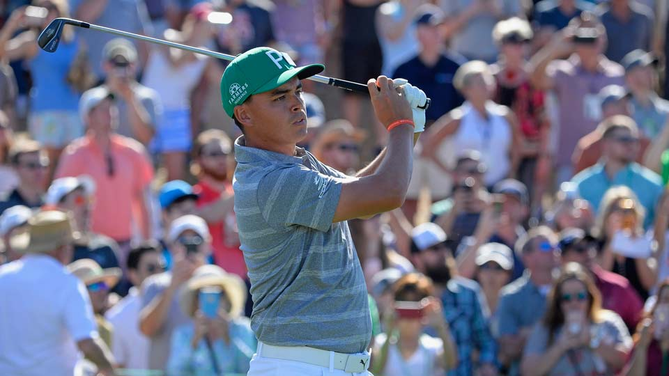 Rickie Fowler is seeking his fifth career PGA Tour win at the Waste Management Phoenix Open. He leads by one shot heading into the final round.