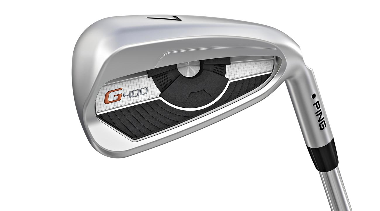A hydropearl chrome finish on the Ping G400 irons reduces friction by 40 percent for improved turf interaction