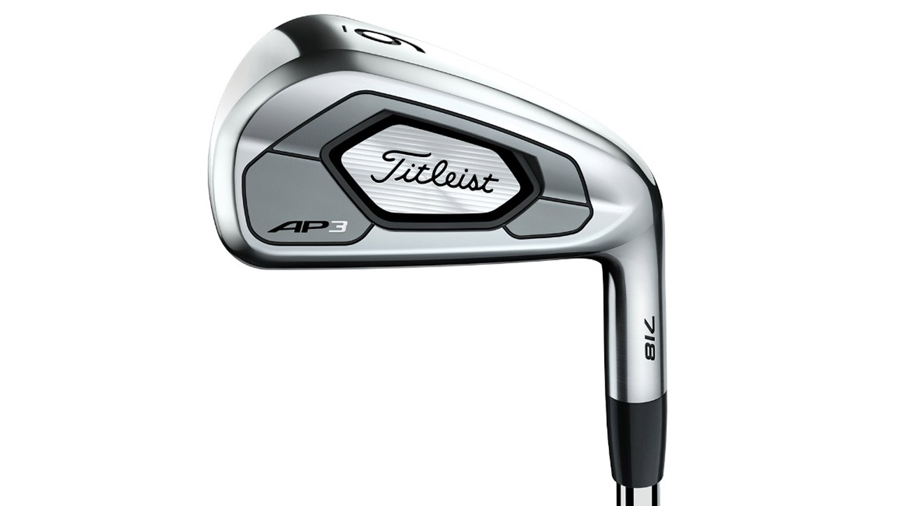 Titleist 718 AP3irons feature an undercut cavity design in the 3- through 7-irons that helps deliver big distance and a higher ball flight.