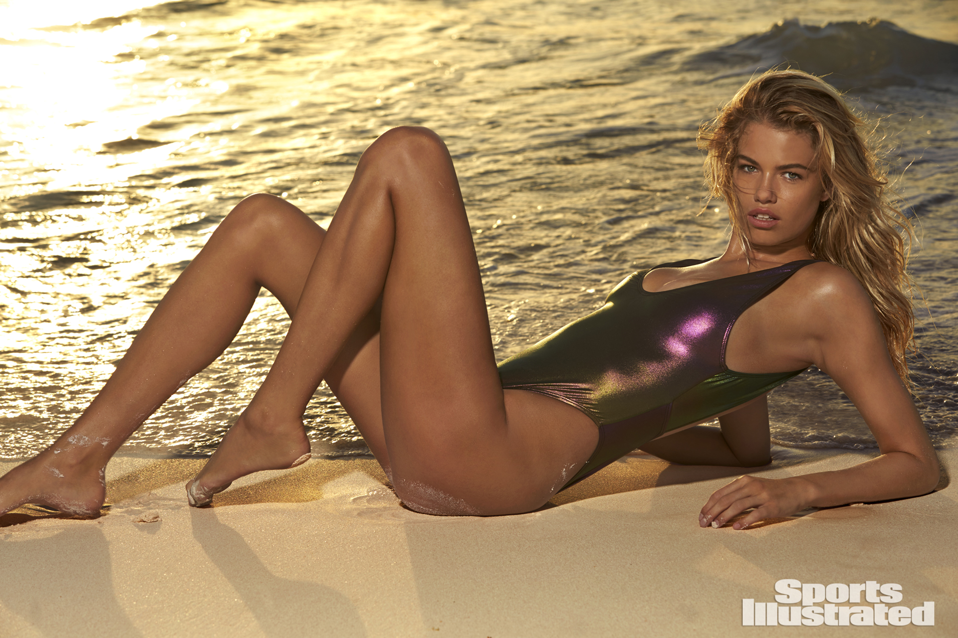 Hailey Clauson was photographed by Ben Watts in the Bahamas. Swimsuit by Sports Illustrated Swim