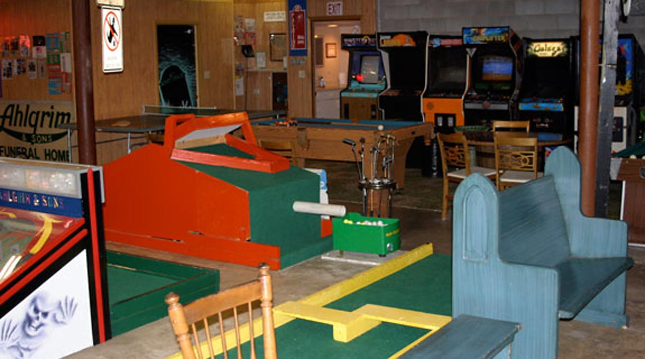 This mini golf course happens to be six feet under.