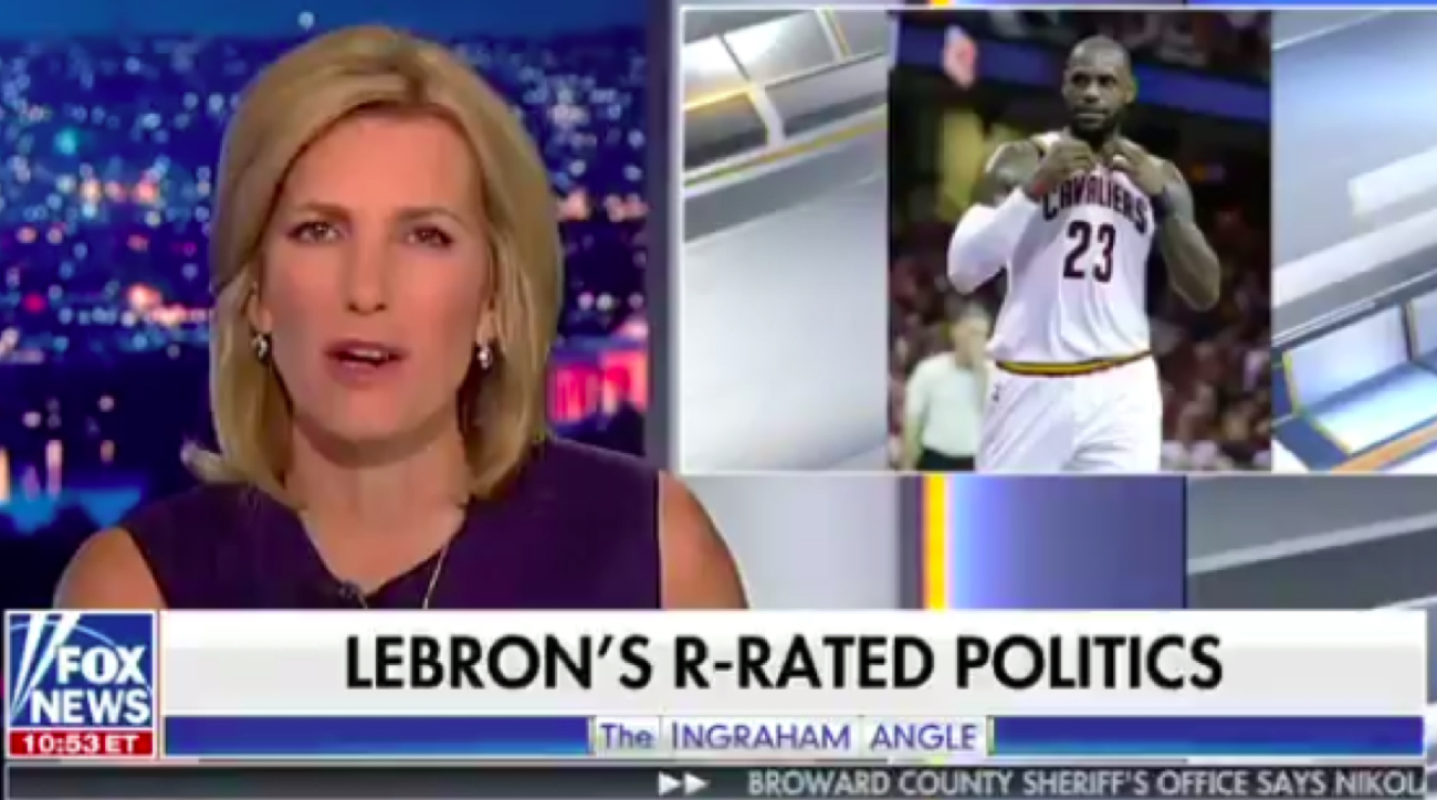 laura ingraham lebron james donald trump