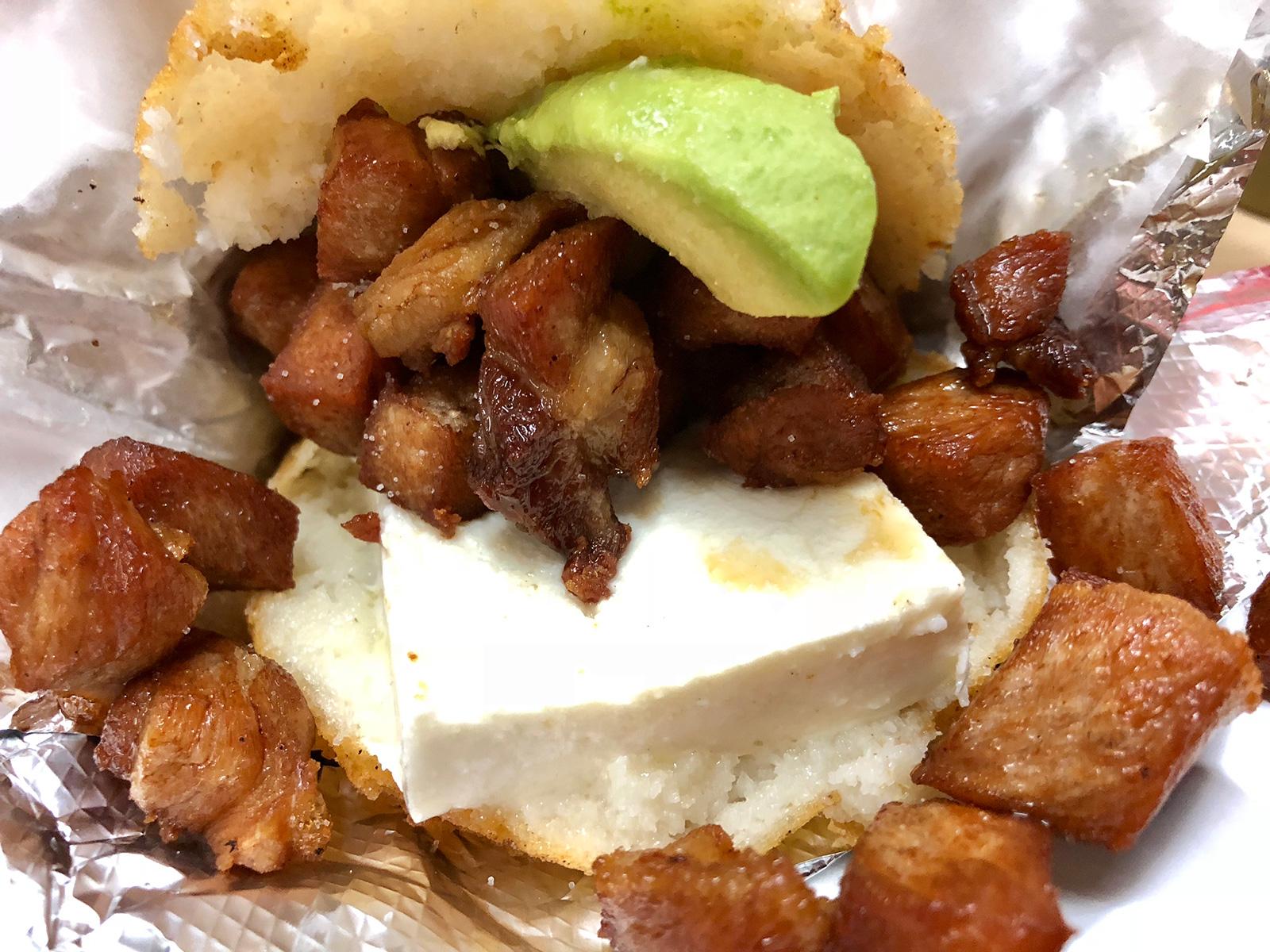 Junquito arepa from Dona Arepa
