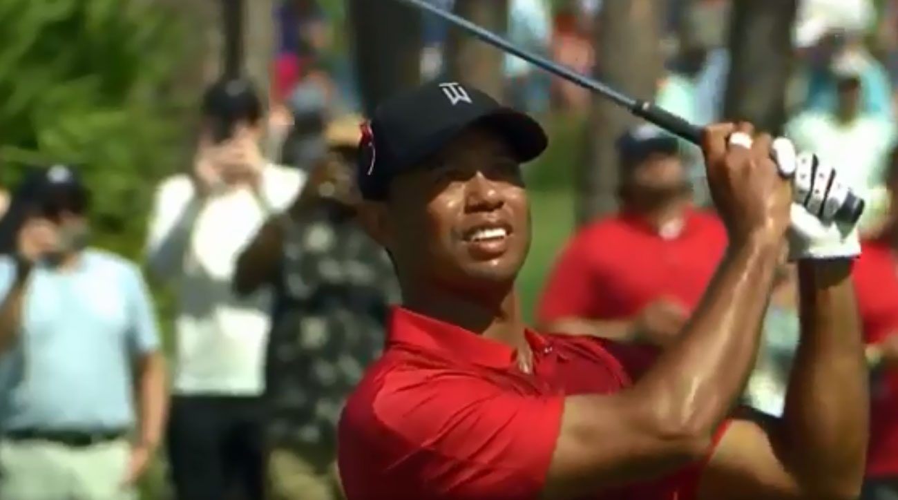 Tiger Woods during the final round of the 2018 Honda Classic.