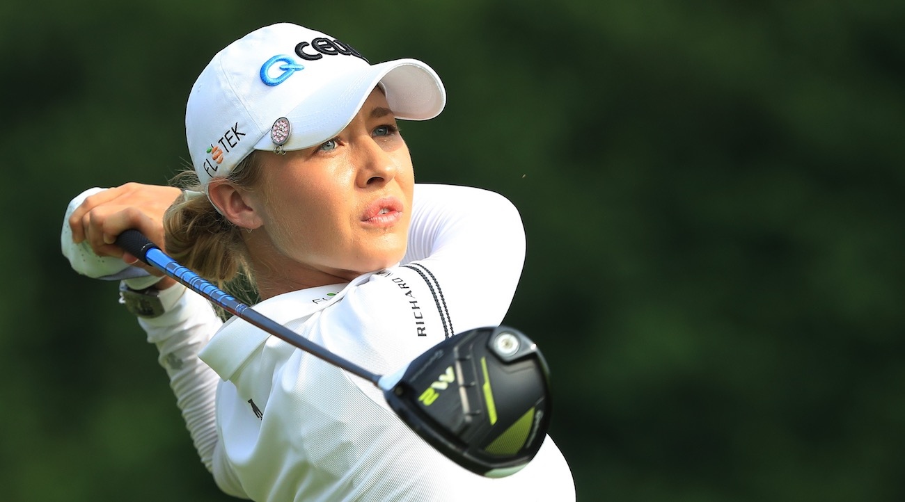 Nelly Korda made eight birdies on Saturday to surge into the 54-hole lead in Singapore.