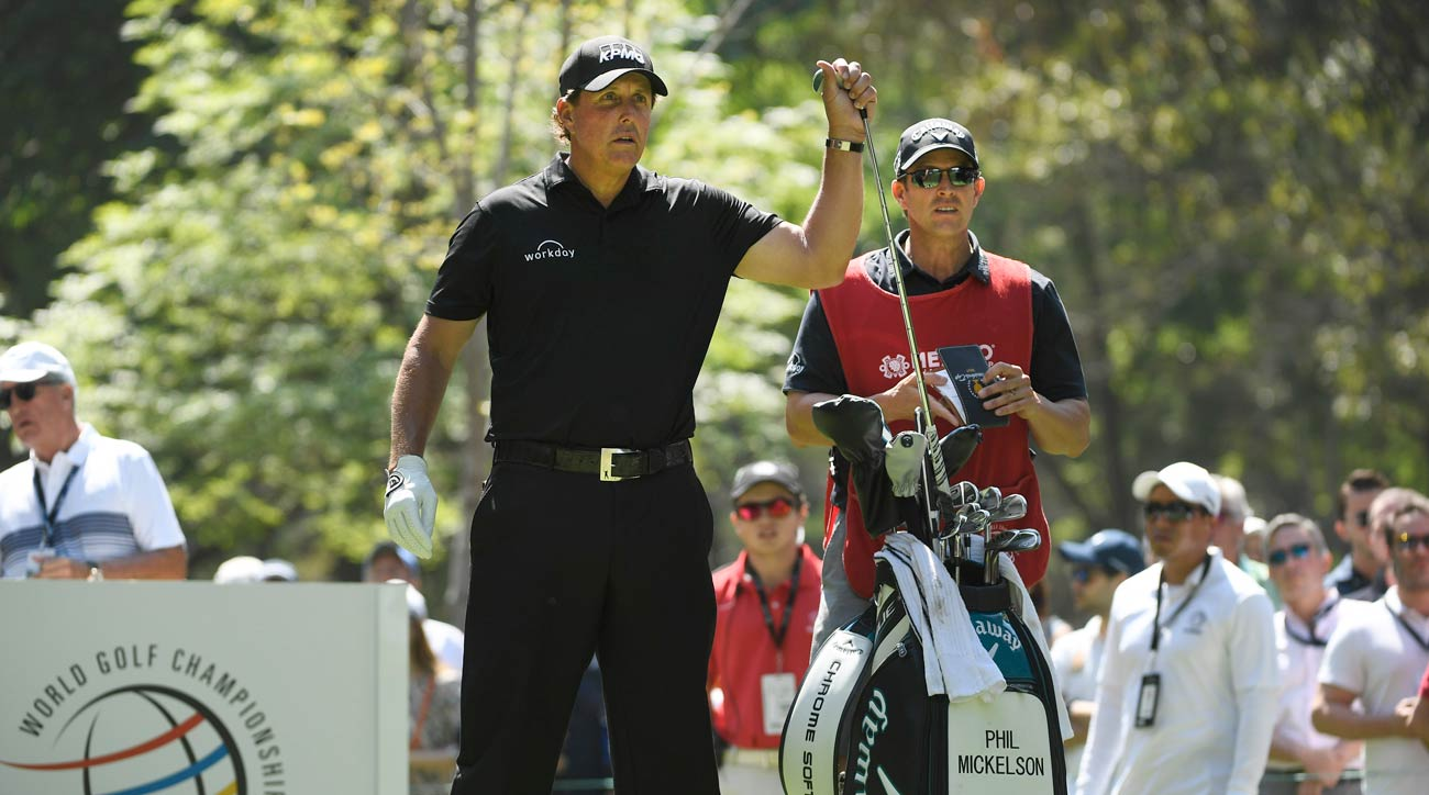 Phil Mickelson during the final round of the WGC-Mexico Championship.