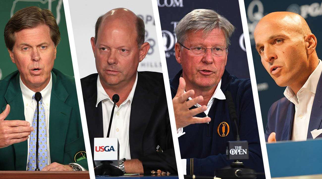 From left: Fred Ridley of Augusta National, Mike Davis of the USGA, Martin Slumbers of the R&A and Pete Bevacqua of the PGA of America.