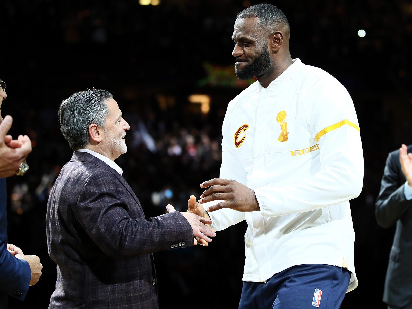 Dan Gilbert and LeBron James