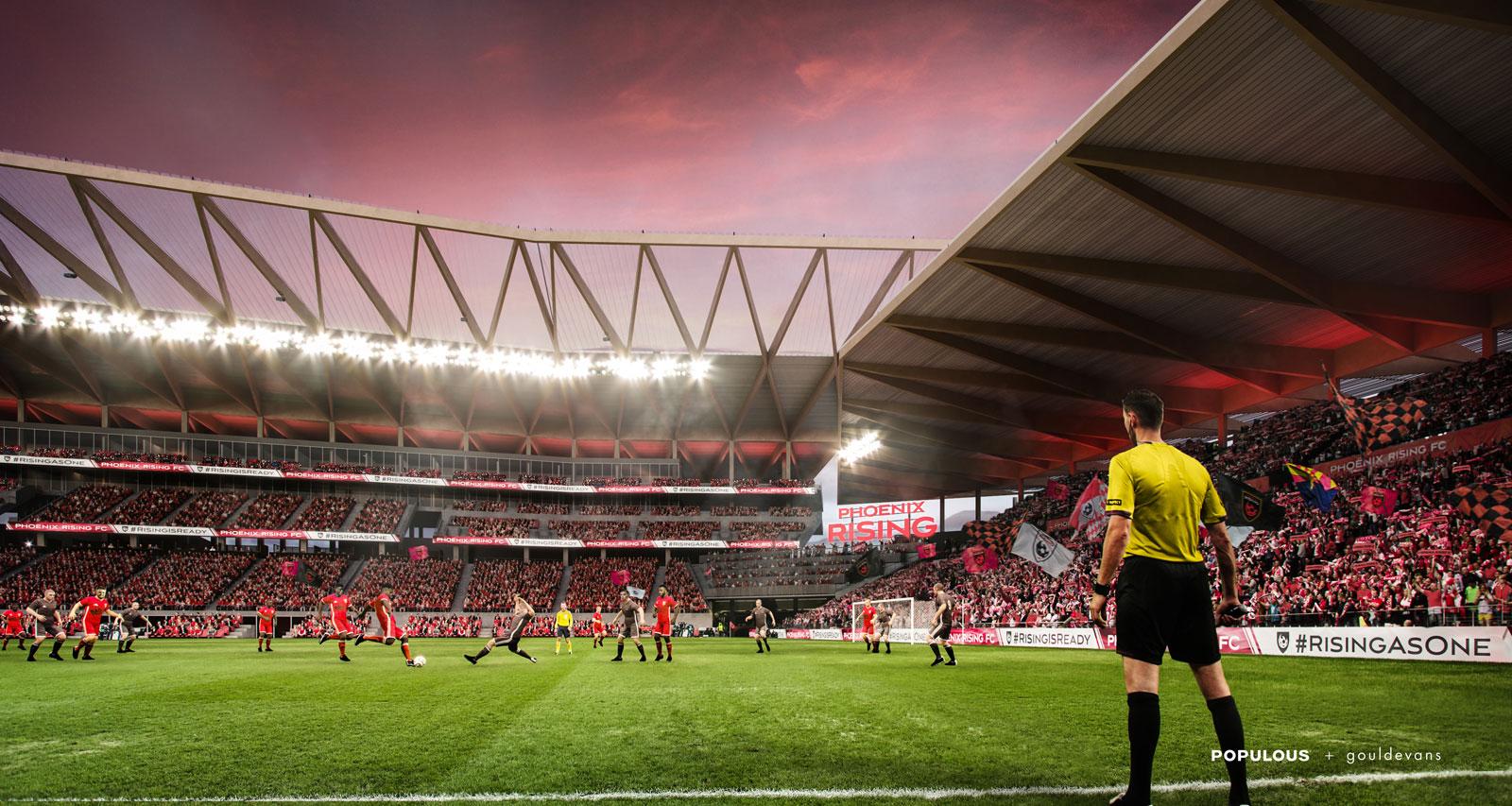 Phoenix Rising unveils stadium renderings for its MLS expansion bid