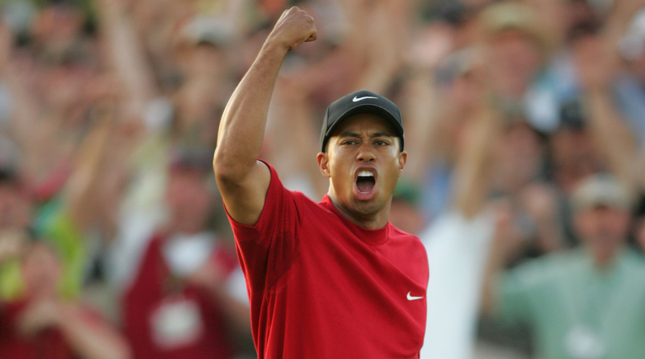 Tiger Woods during the 2005 Masters at Augusta National.