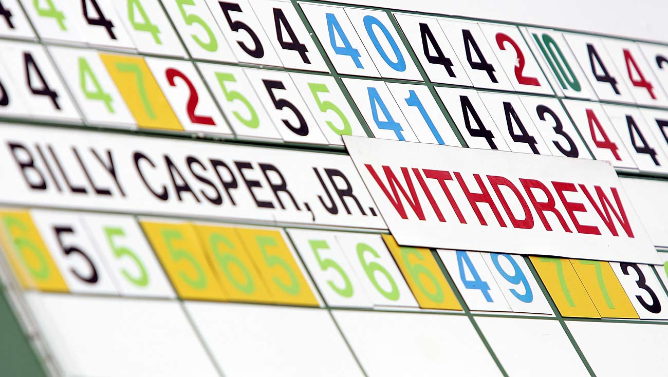 Billy Casper's 2005 score didn't land in the record books, and it also wasn't posted on the scoreboards after he withdrew.