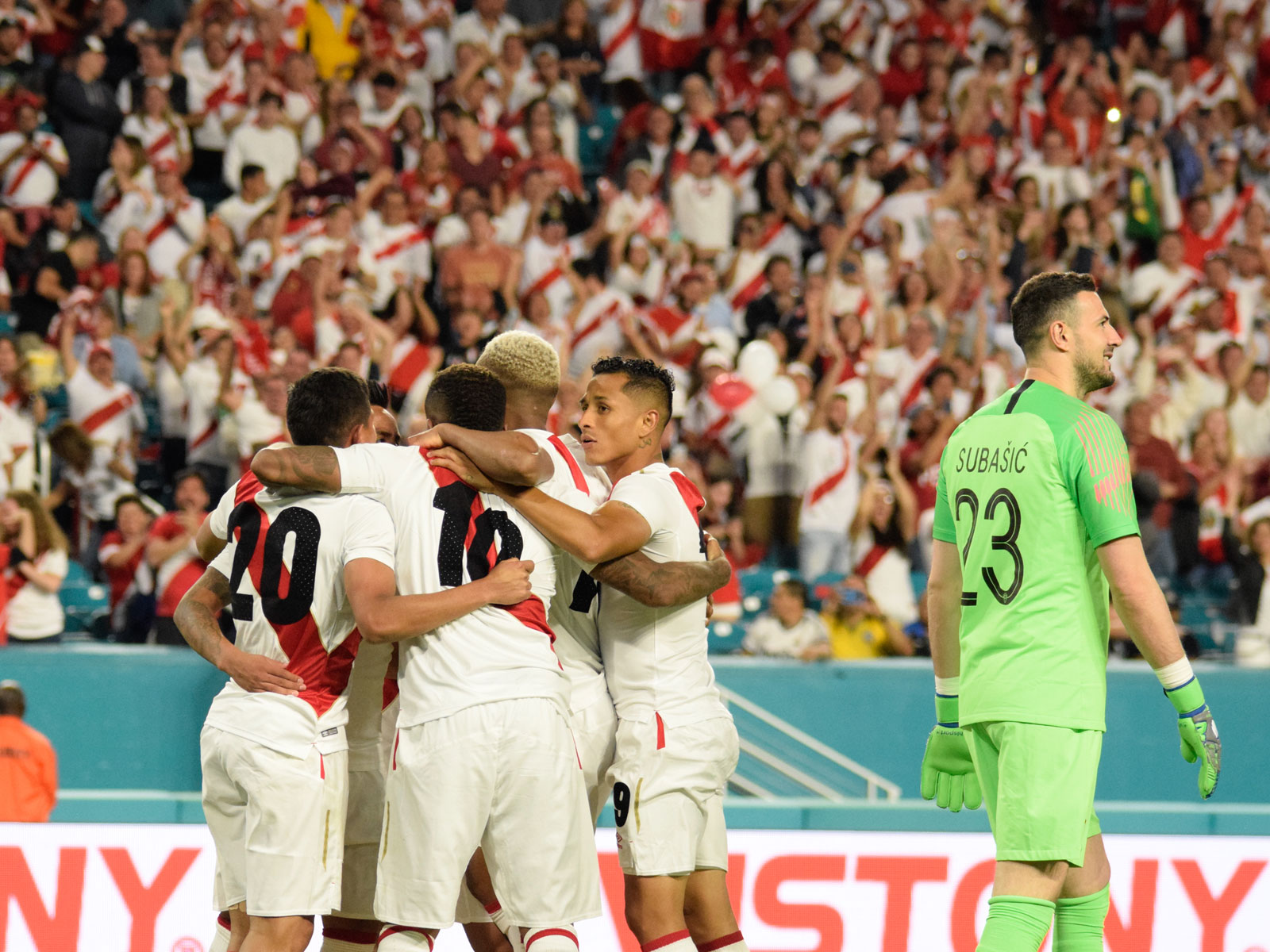 Peru beats Croatia in a pre-World Cup friendly