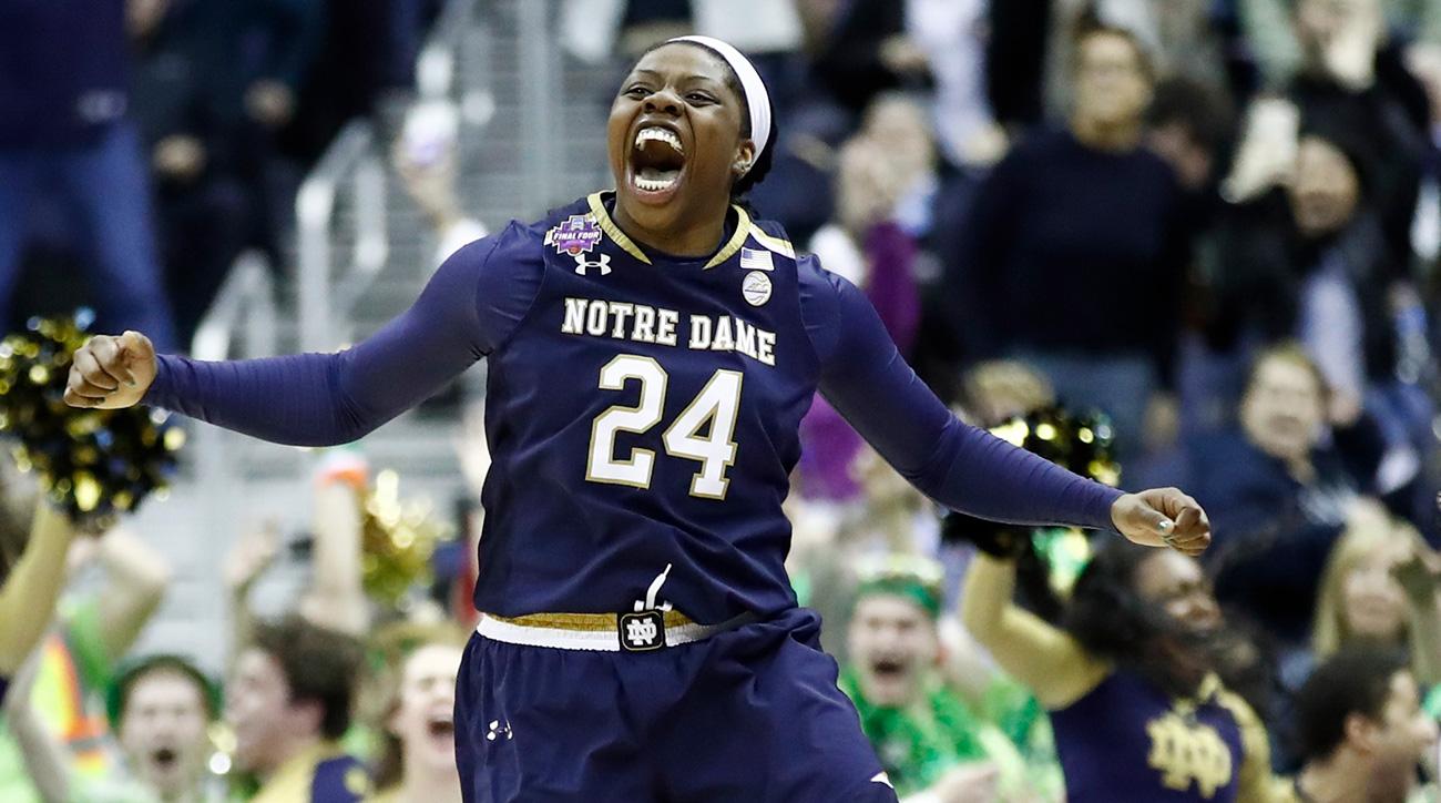 Arike Ogunbowale: Notre Dame star on buzzer beater shot