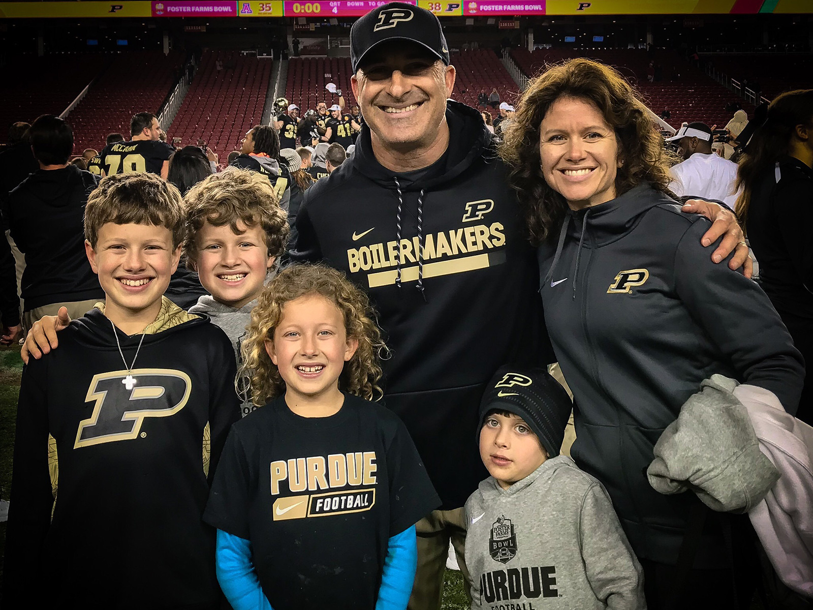 The Levines knew Purdue's Foster Farms Bowl victory in Santa Clara would be Tony's last game on the sidelines.
