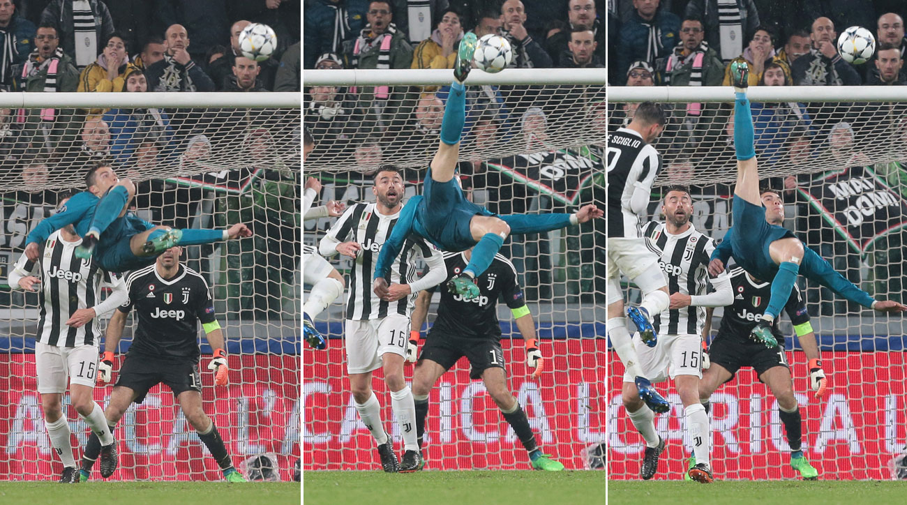 Cristiano Ronaldo connects for a perfect bicycle kick vs. Juventus in Champions League