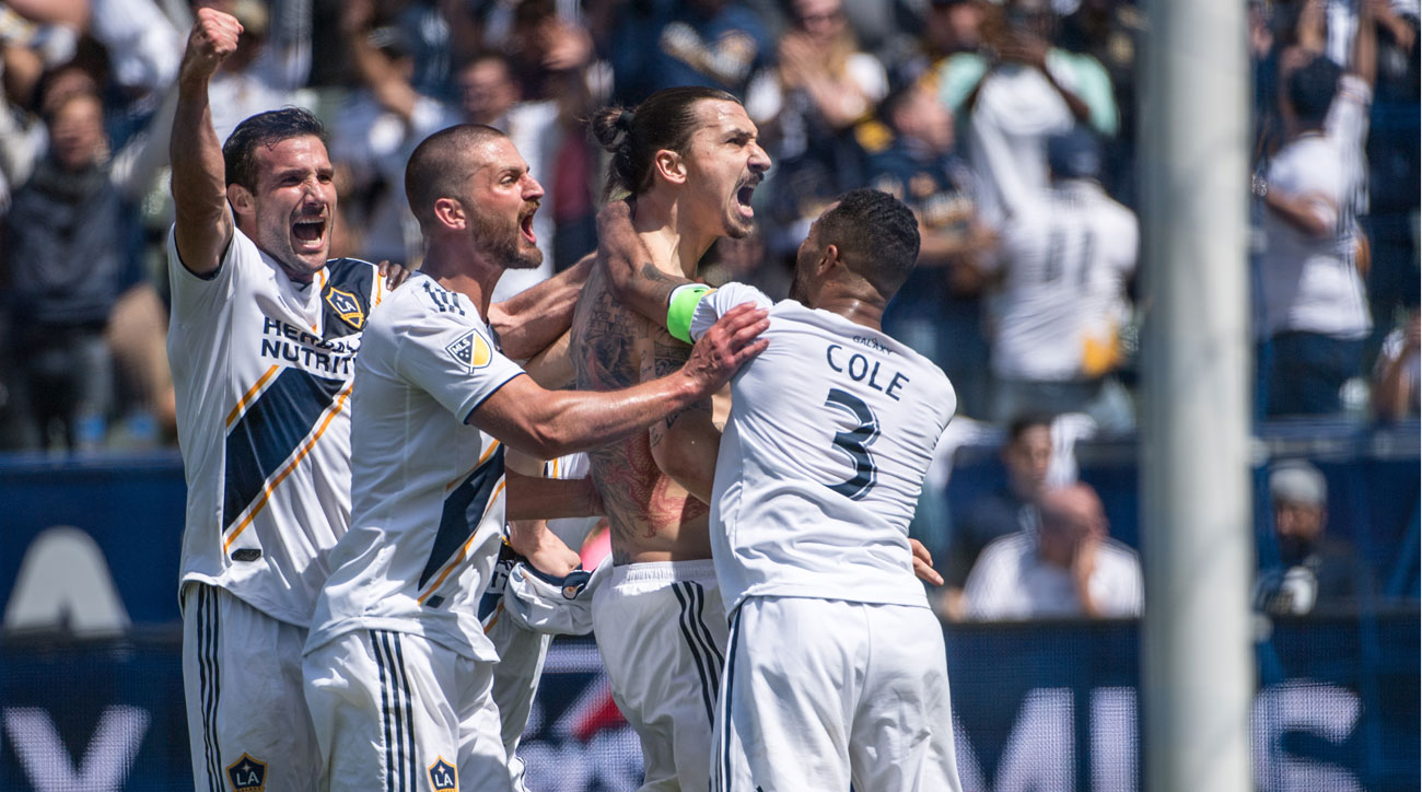 Zlatan Ibrahimovic starred on his debut for the LA Galaxy in MLS