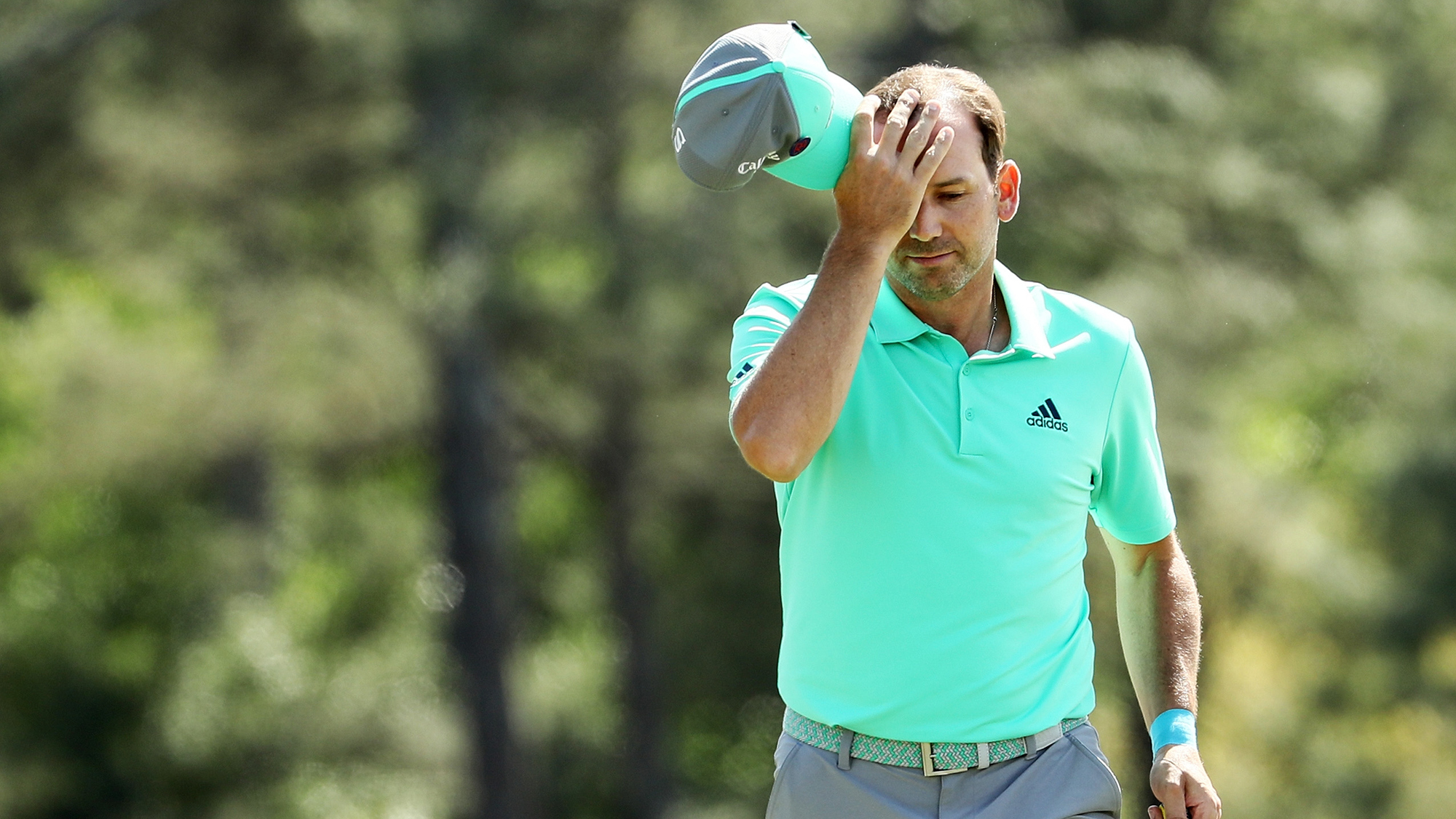 Sergio Garcia masters augusta 13 water tin cup