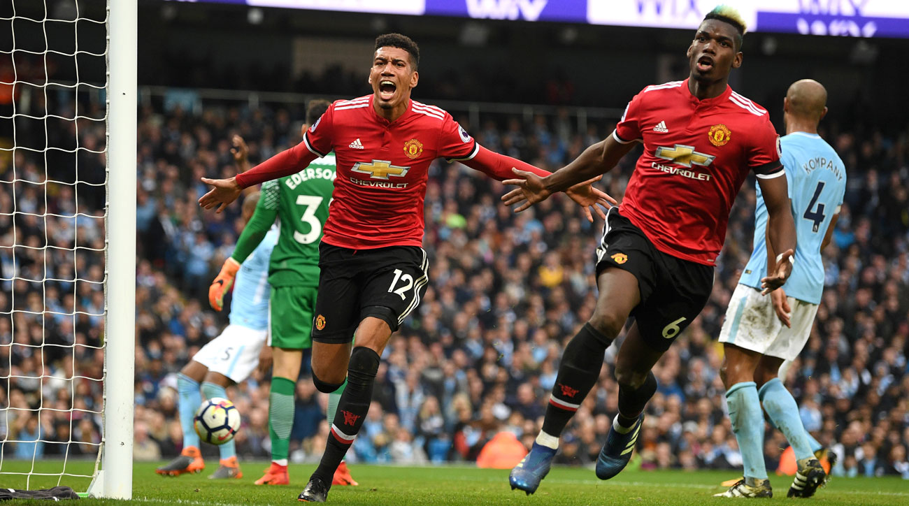 Manchester United mounts a furious comeback to stun Manchester City