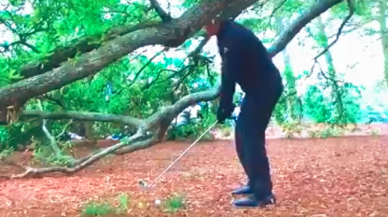 Phil Mickelson  1st hole at Augusta National.