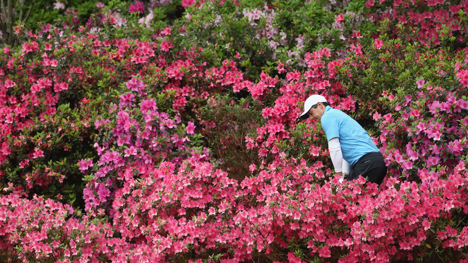 Rory McIlroy shot a 65 Saturday at the Masters, and even he found some trouble on the 13th.