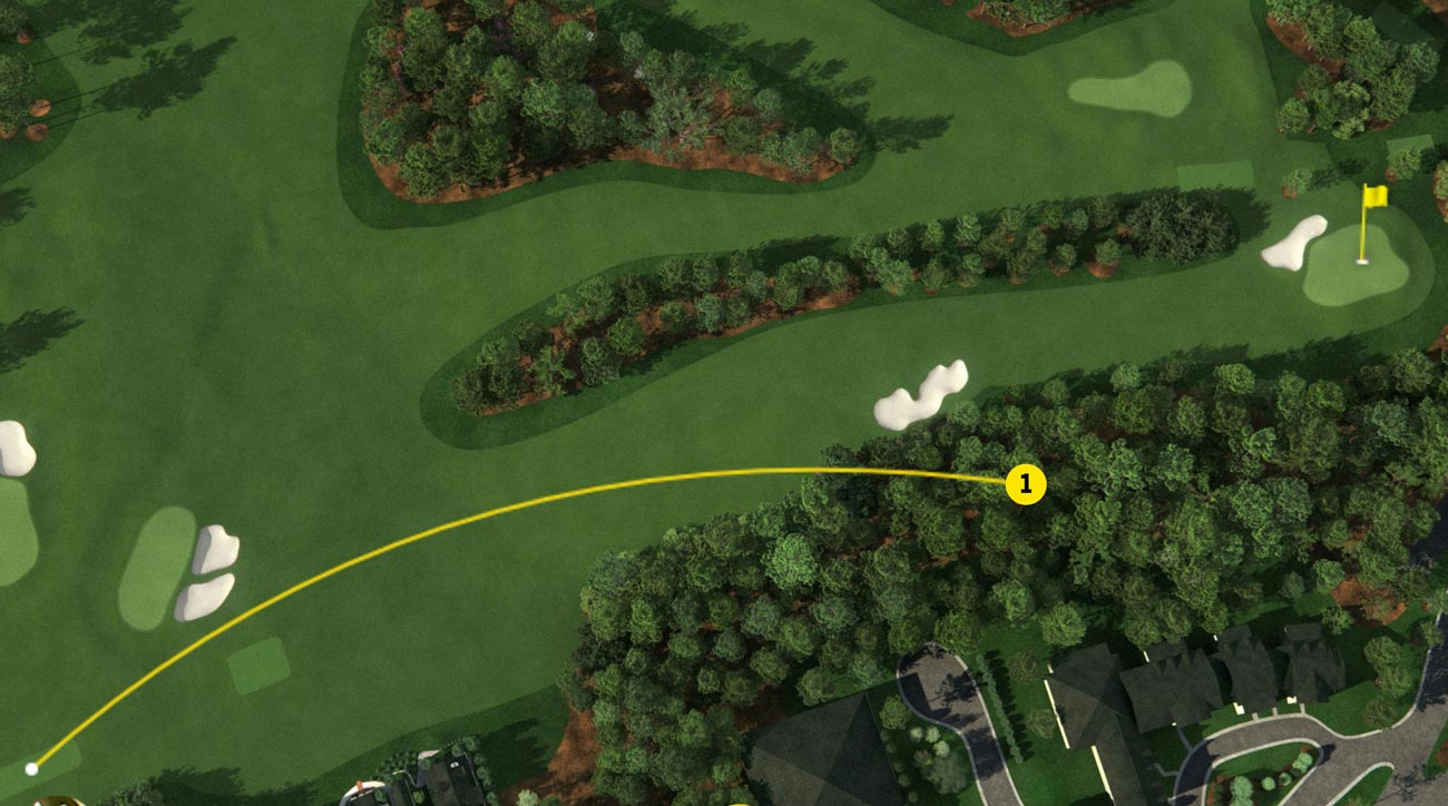 Rory McIlroy's opening tee shot Masters final roun