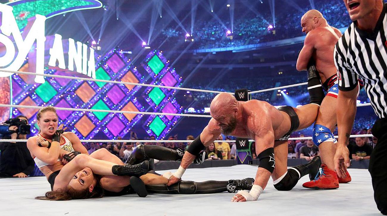 wrestlemania 34 biggest takeaways including ronda rousey golf com