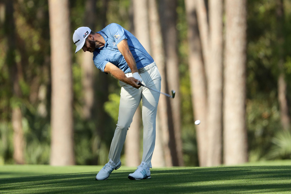 Dustin Johnson is five shots back after the opening round of the RBC Heritage, a tournament he hasn't played since 2009.