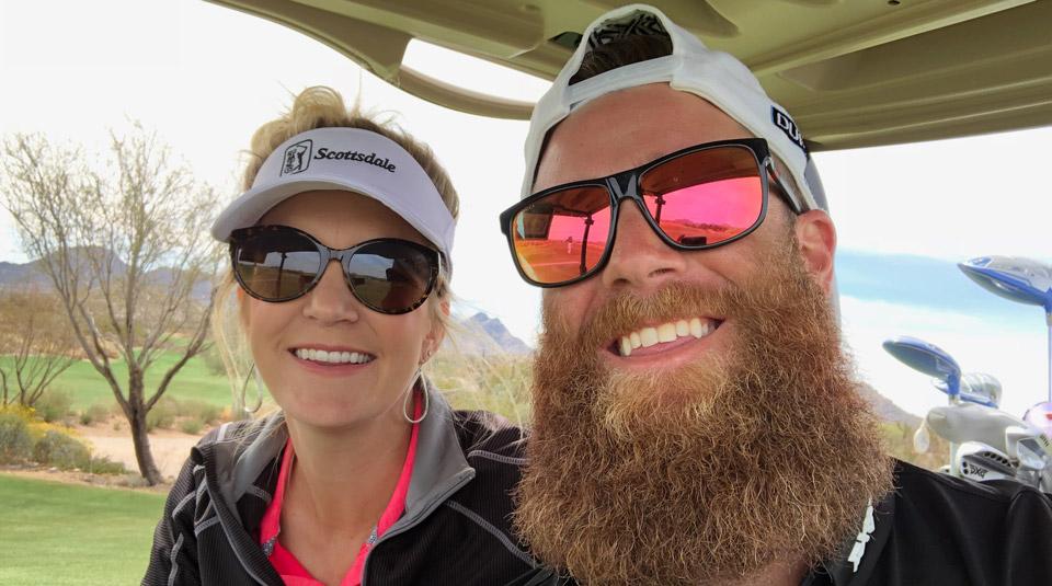 My playing partner and cart companion for the day, Archie Bradley of the Arizona Diamondbacks.