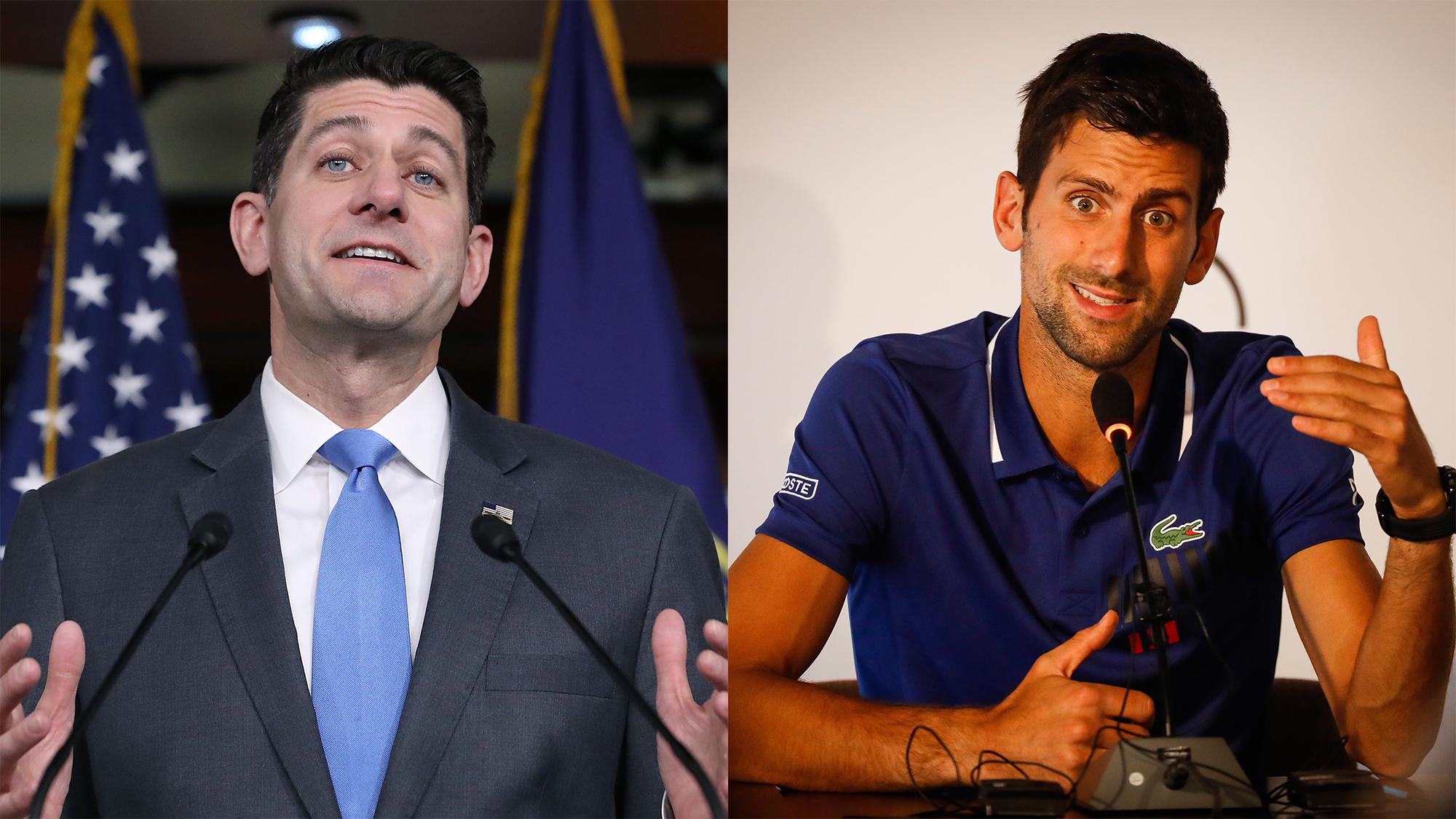 Paul Ryan Novak Djokovic Long Lost Sibling Mailbag