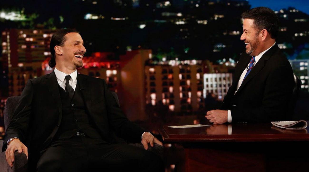 Zlatan Ibrahimovic appears on Jimmy Kimmel Live