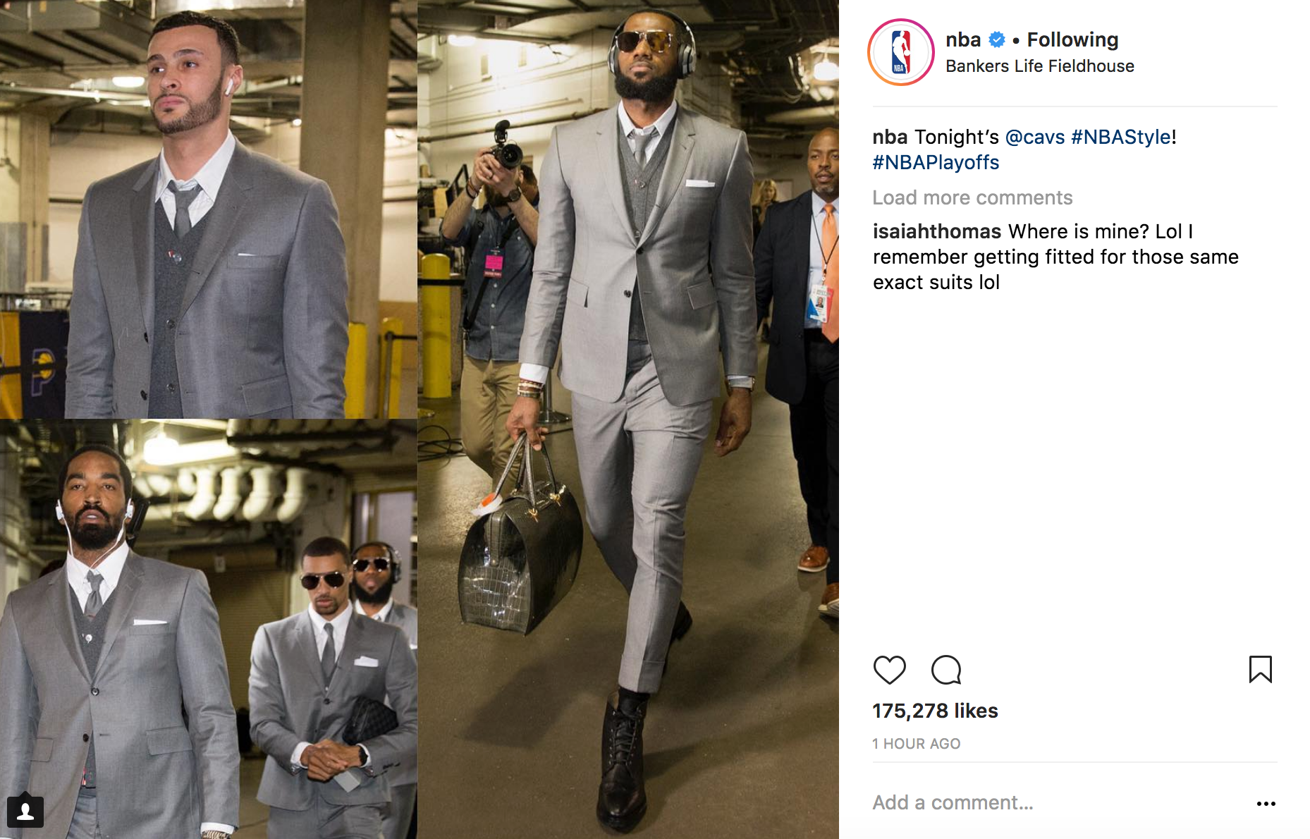 Isaiah Thomas on Cavaliers suits