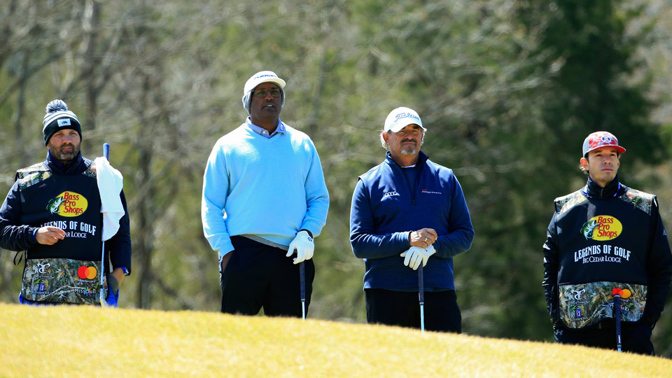 Defending champions Vijay Singh and Carlos Franco are in position for another win with one round to play.