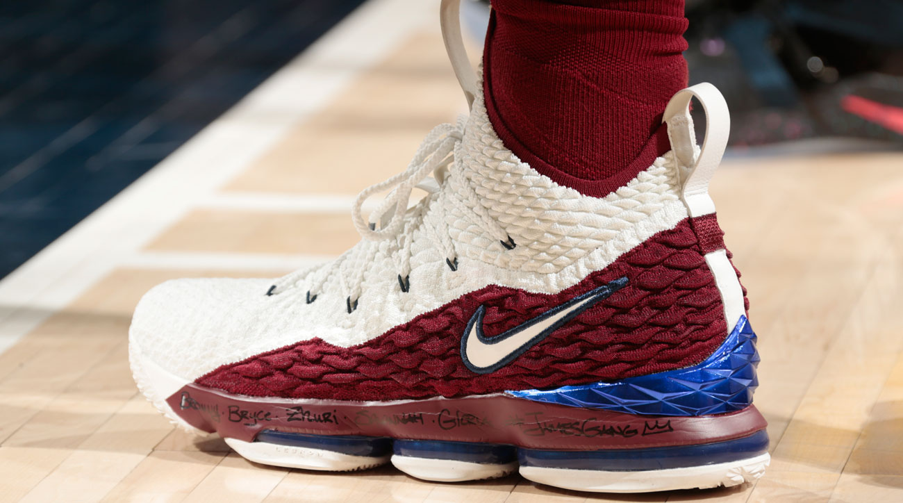 reputable site f1c0b e7829 Nike LeBron 15 worn by LeBron James (Cavaliers)