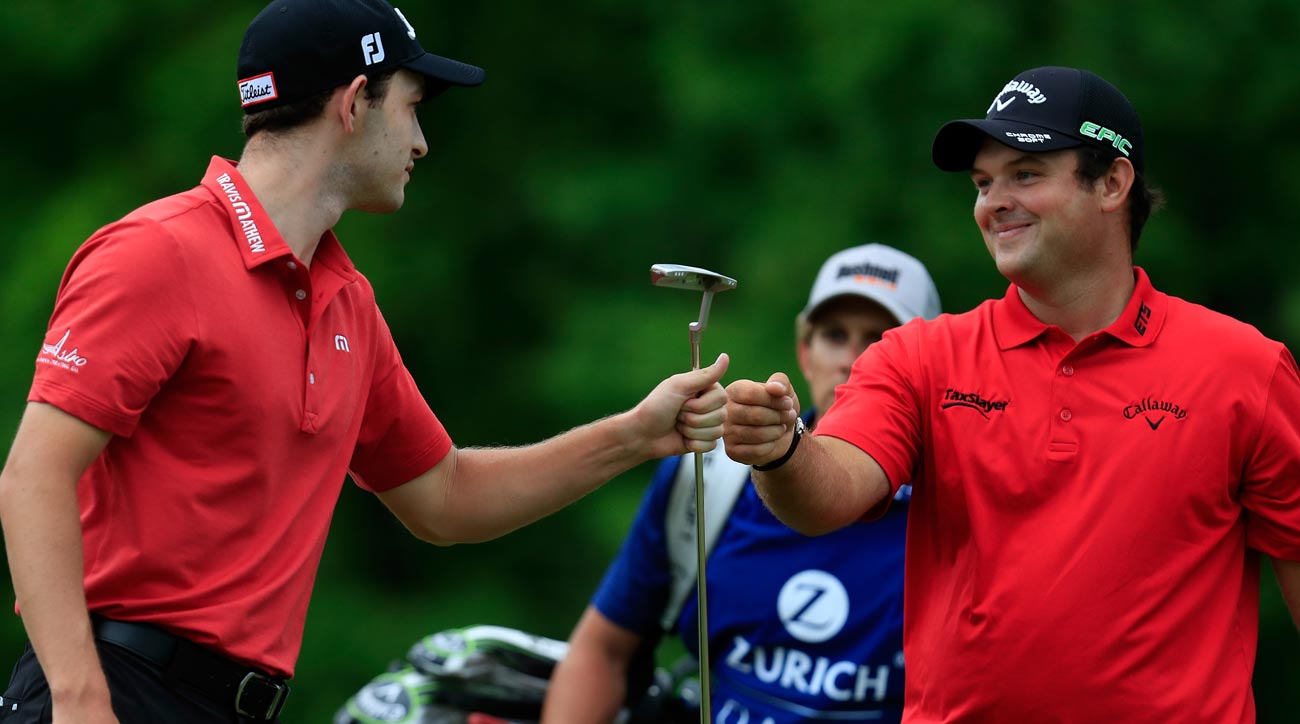 Patrick Cantlay and Patrick Reed at 2017 Zurich Classic