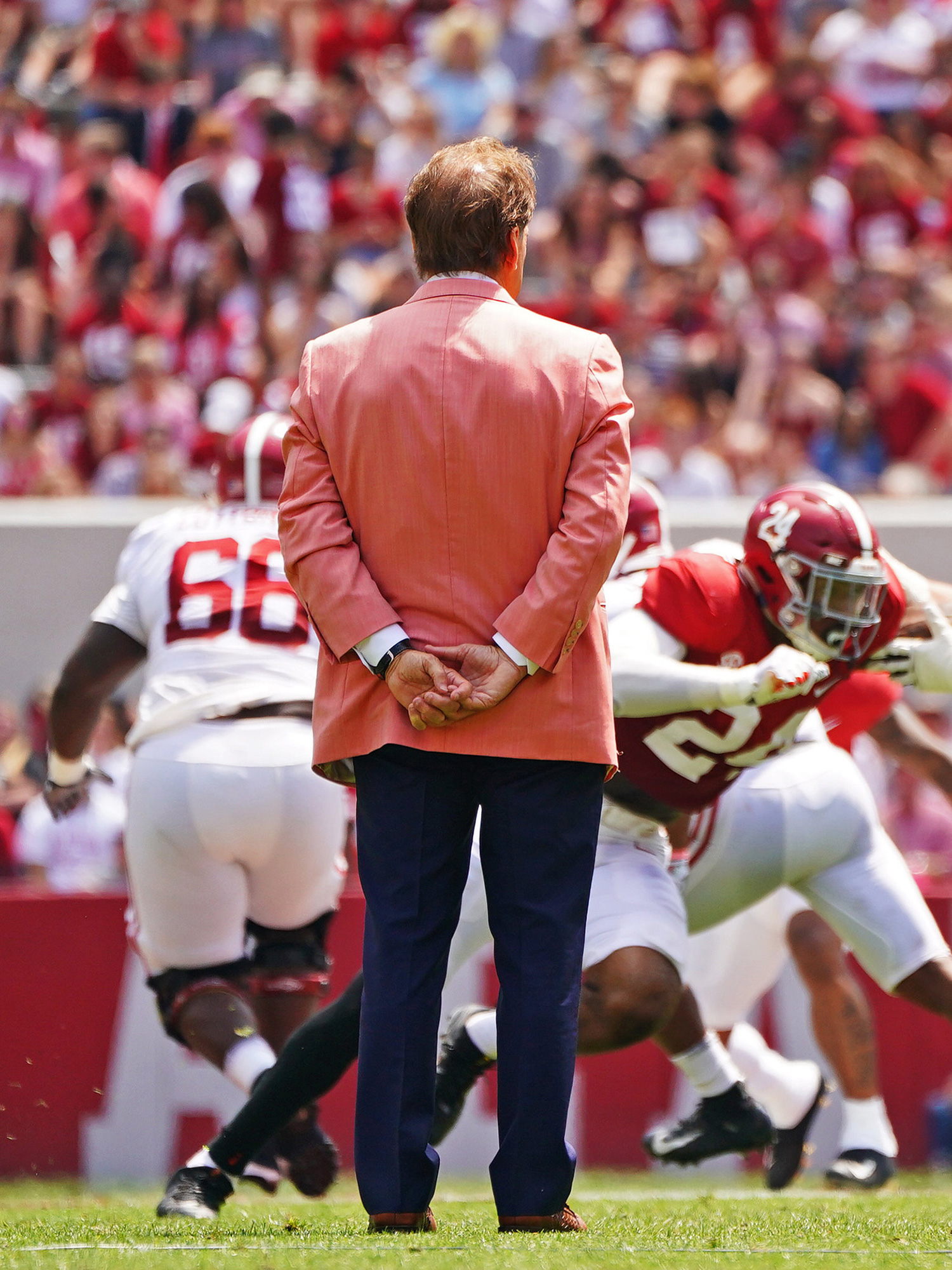 Alabama Spring Football: Behind the scenes with Nick Saban