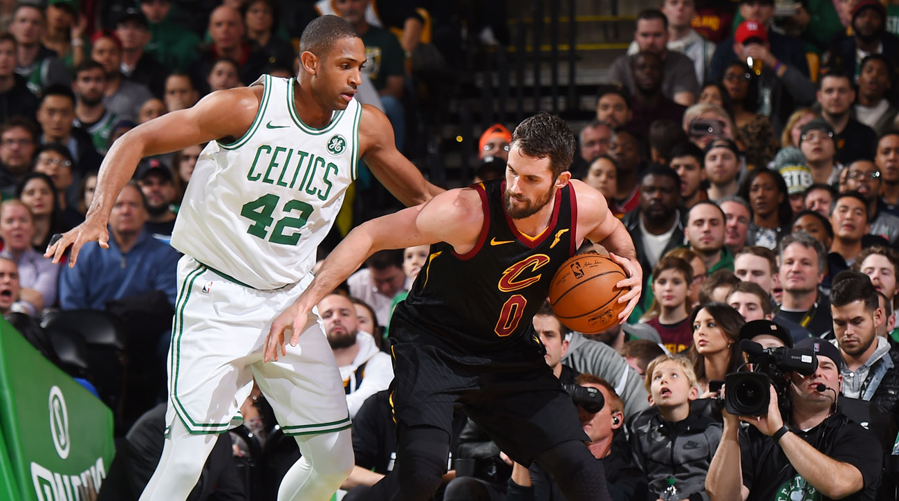LeBron James versus the Boston Celtics