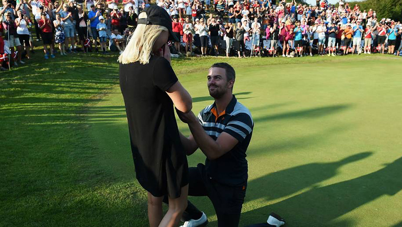Golf Marriage Proposal