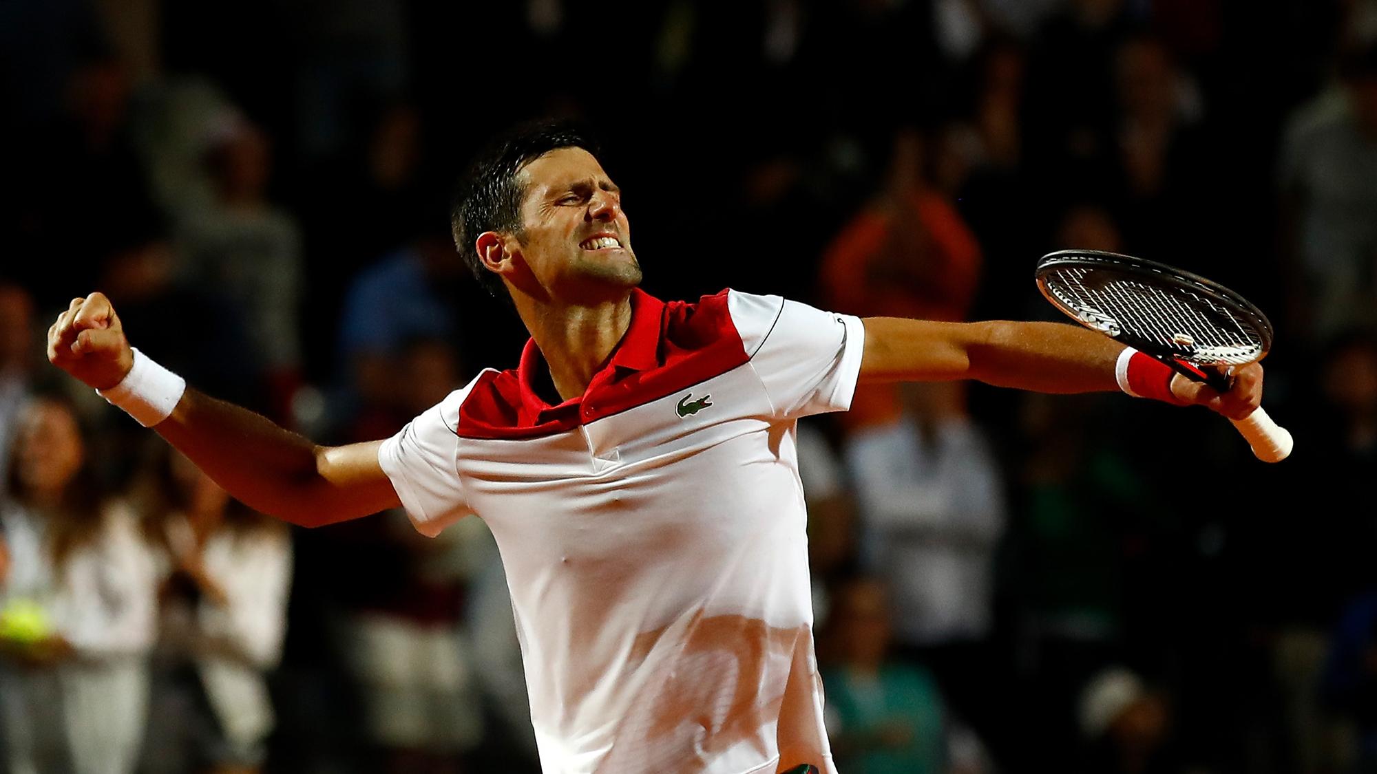 Rafa Nadal Fabio Fognini Novak Djokovic Rome Italian Open ATP Tennis