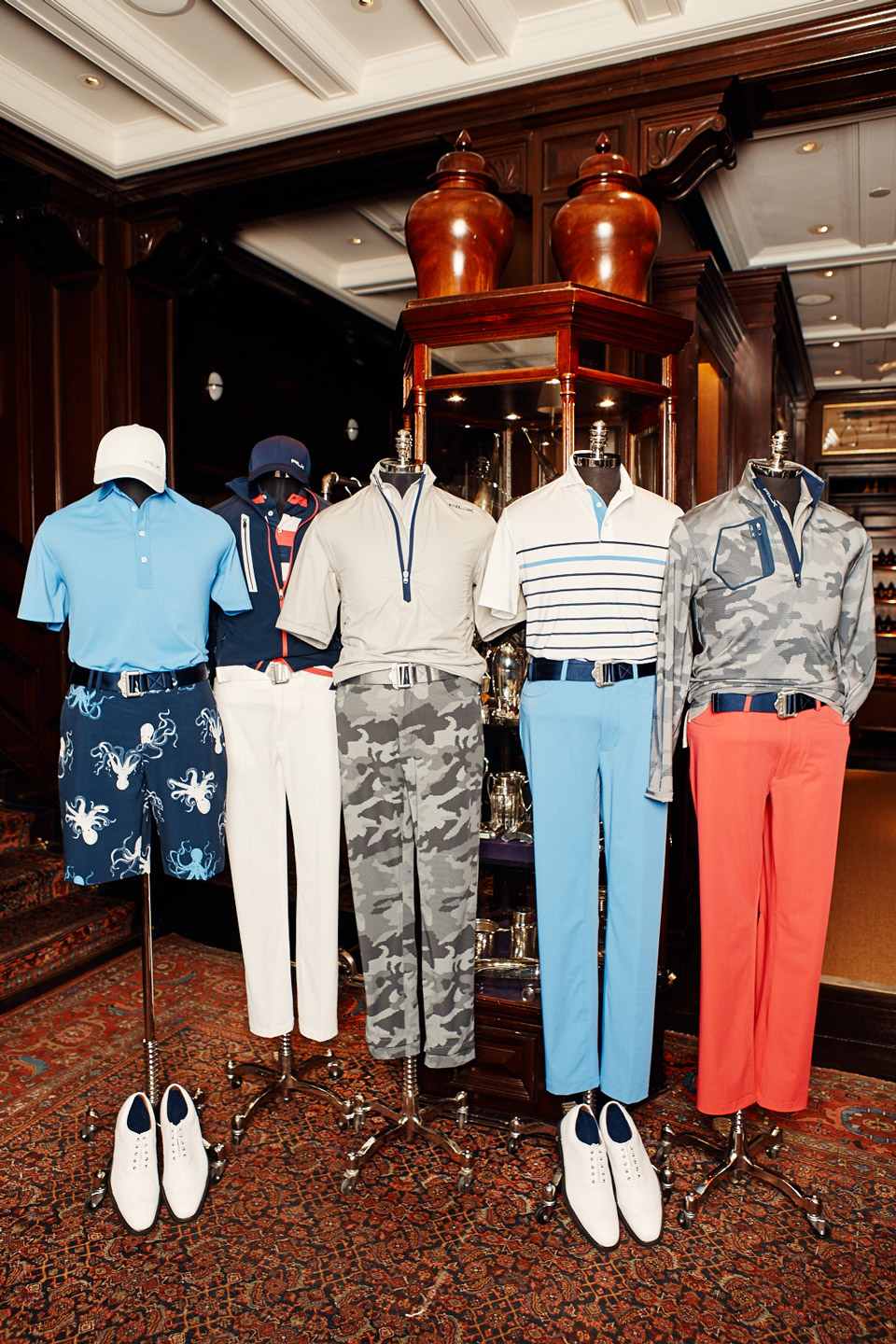 The RLX x Billy Horschel Collection. Horschel will wear each outfit from left to right on Wednesday through Sunday at the 2018 PGA Championship.
